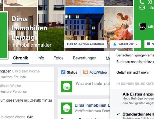 Dima in den sozialen Netzwerken