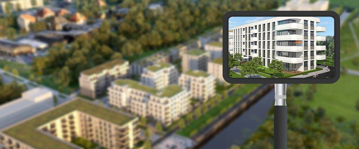 Großbaustelle Lindenauer Hafen nimmt Form an