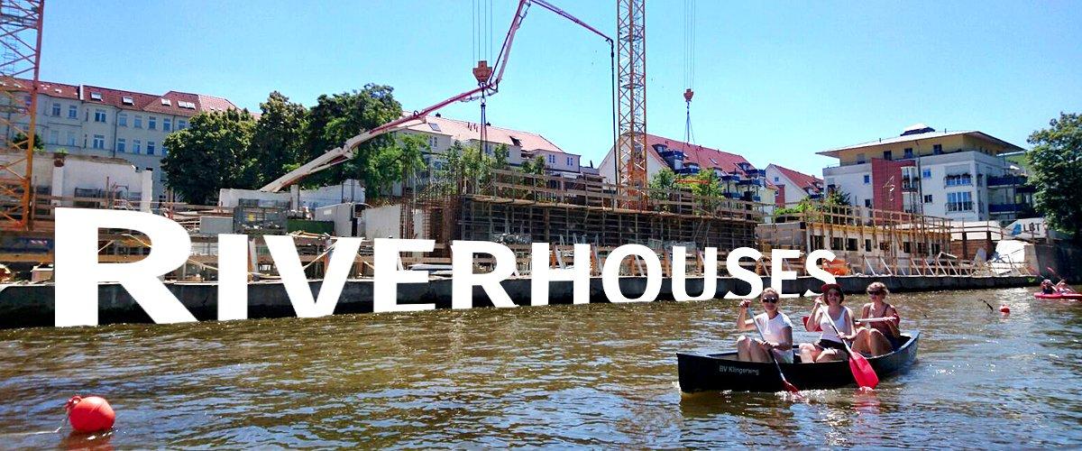 Riverhouses nehmen Form an